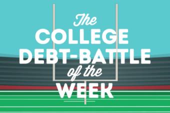 College debt battle of the week