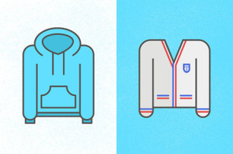cartoon of hoody or vest