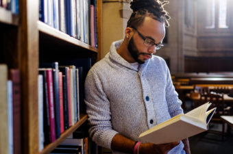 Male African American college student series
